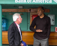 Peter Gammons and Tommy Harper Royalty Free Stock Images