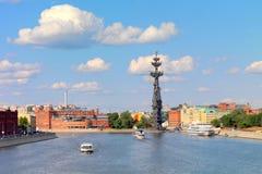Peter a grande estátua, Moscou, Rússia fotografia de stock royalty free