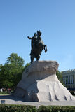 Peter the Great. Monument to Russian emperor Peter the Great Royalty Free Stock Photo