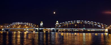 Peter the Great Bridge Royalty Free Stock Photos