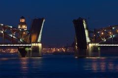 Peter the Great Bridge. Of St. Petersburg. White nights, 2007 Royalty Free Stock Photos