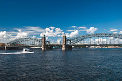 Peter the Great bridge Royalty Free Stock Images