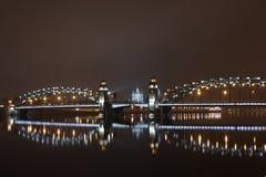 Peter the Great bridge of St. Petersburg stock image