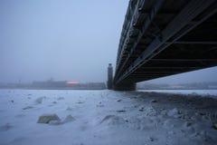 Peter the Great bridge in winter Stock Photo