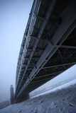 Peter the Great bridge in winter Royalty Free Stock Image