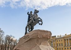 Peter the Great, Bronze Horseman Stock Photography