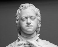 Peter the Great marble portrait bust royalty free stock photography