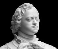 Peter the Great marble portrait bust royalty free stock photo