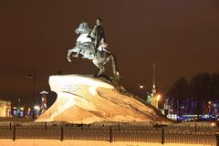Peter the Great monument Stock Photos