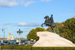 Peter the Great monument Stock Images