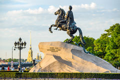 Peter the Great monument (Bronze Horseman) Royalty Free Stock Photos