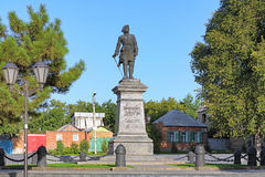 Peter the Great Monument in Taganrog, Russia Royalty Free Stock Photos