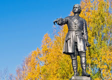 Peter the Great, Petrozavodsk, Karelia, Russia retouched Royalty Free Stock Photo