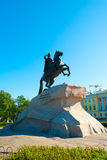 Peter the Great Statue Stock Image