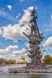 Peter The Great statue by Zurab Tsereteli Royalty Free Stock Photo