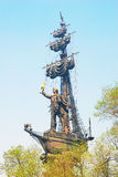 Peter the Great surrounded by trees Royalty Free Stock Image