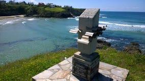 Peter Gulley monument i Tapia de Casariego, Asturias Royaltyfri Fotografi