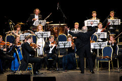 Peter Guth et orchestre Vienne de festival de Strauss Photos stock