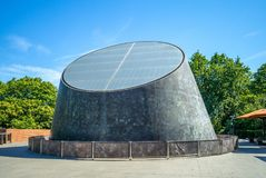 Peter Harrison Planetarium in greenwich park. The Peter Harrison Planetarium is a 120-seat digital laser planetarium, situated in Greenwich Park, London and is royalty free stock photography