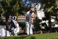 Peter Hedblom au golf d'Andalousie ouvert, Marbella Image stock