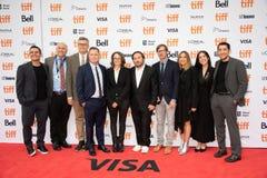 Peter Hedges en David Zaldivar & bemanning bij de première van ` Ben Is Back ` bij TIFF2018 stock afbeelding