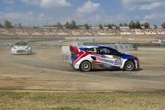 Peter HEDSTROM Ford fiesta Barcelona FIA świat Rallycross Zdjęcie Royalty Free