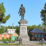 Peter het Grote Monument in Taganrog, Rusland Stock Foto