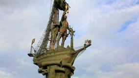 Peter het Grote Standbeeld, Moskou stock footage