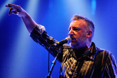 Peter Hook, Joy Division and New Order bassist, performs Unknown Pleasures Stock Photo