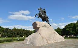 Peter I den stora monumentet Royaltyfri Bild