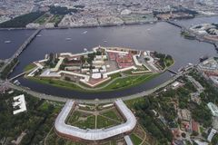 Peter i Paul forteca i arsenał, Petersburg, Zdjęcie Royalty Free