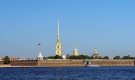 Peter i Paul forteca i Neva rzeka, święty Petersburg obraz stock