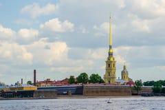 Peter i Pavel forteca i Neva rzeka fotografia royalty free