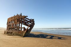 Peter Iredale in Fort Stevens State Park, Warrenton, Oregon stock photo