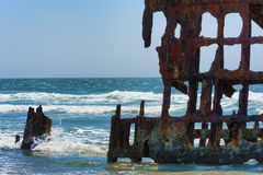 Peter Iredale Ship Wreck royalty free stock photos