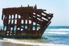 Peter Iredale Shipwreck on the Oregon Coast stock photos
