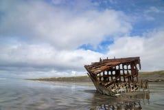 Peter Iredale shipwrek Royalty-vrije Stock Afbeeldingen