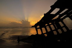 Peter Iredale Sunset fotos de stock