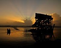 Peter Iredale Sunset stock photos