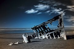 Peter Iredale Wreck Stock Foto