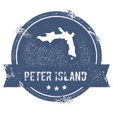 Peter Island logo sign. Stock Photo