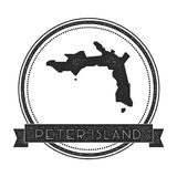 Peter Island map stamp. Stock Images