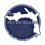 Peter Island vector map. Royalty Free Stock Photo