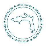 Peter Island vector map. Stock Image