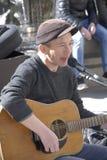 PETER JONES  BRITISH SINGER PERFOMING IN COPENHAGEN Stock Photos