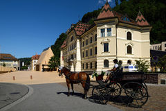 Peter Kaiser Platz, Vaduz, Liechtenstein Royalty Free Stock Image