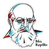 Peter Kropotkin Portrait lizenzfreie abbildung
