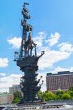 Peter la gran estatua en Moscú Fotografía de archivo