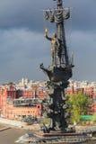 Peter la gran estatua Moscú, Rusia Imagen de archivo libre de regalías