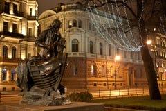 Peter la grande statua Fotografia Stock Libera da Diritti